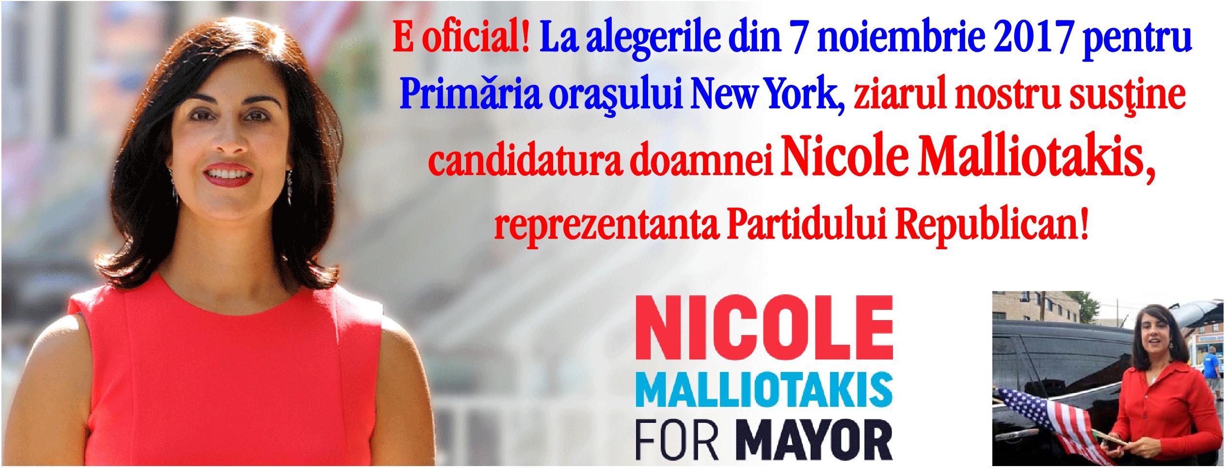 E oficial! La alegerile din 7 noiembrie 2017 pentru Primăria orașului New York, ziarul New York Magazin susține candidatura doamnei Nicole Malliotakis, reprezentanta Partidului Republican!